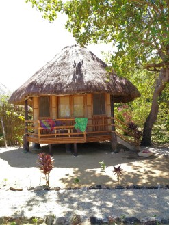 the hut I rented at an expensive resort in northern Busuanga