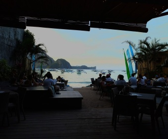 SAVA Beach Bar has an incredible view of the harbor