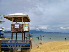 the beach and swimming area