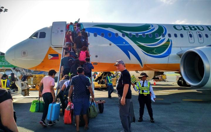 FINALLY! boarding Cebu Pacific