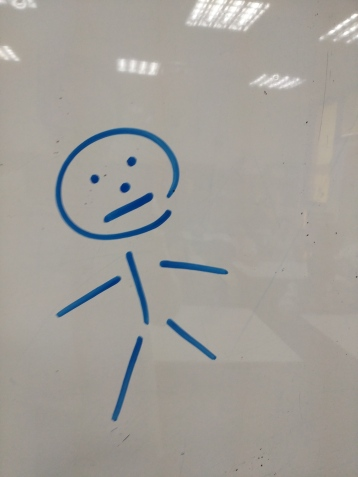 This is a stick figure worth 10 points. (10 body parts)